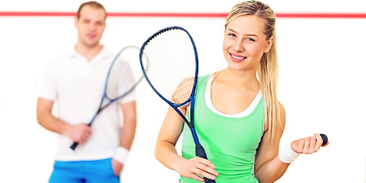 Přijďte se rozhýbat - Hodina squashe či badmintonu pro dvě osoby