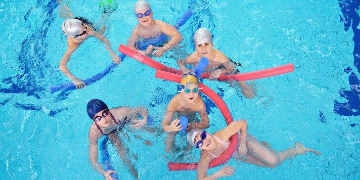 Základní plavecká přípravka pro děti od 6 let: skoky do vody a základy plavání
