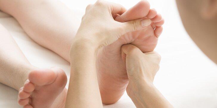 25minutová masáž plosek nohou v solné jeskyni