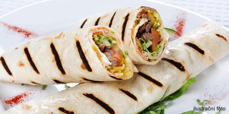 Dobrota do ruky s sebou: Hovězí kebab v tortille či chlebu