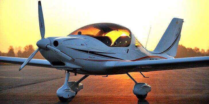Vyhlídkový let letadlem Sting S4 nad Hodonínem a okolím