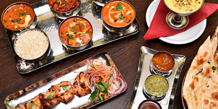 Paleta indických chutí: vegetariánské, kuřecí či královské menu pro dva