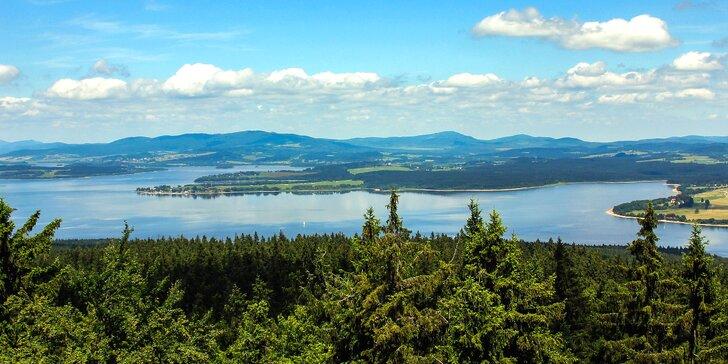 Dovolená pro dva výletníky u Lipenské přehrady s wellness, fitness a polopenzí