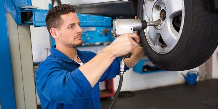 Kompletní přezutí pneumatik včetně závaží a dohuštění
