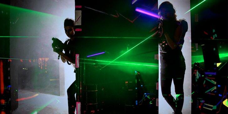 Adrenalinová laser game v temném sklepení: vstup pro 1 nebo 2 hráče