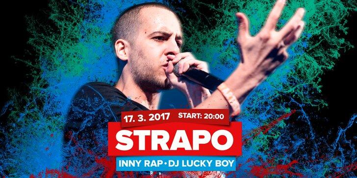 Originální show rapera Strapa: standardní nebo VIP vstupenka s 5 drinky