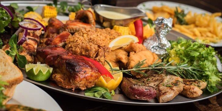 Hostina pro partu: 2kilová nálož pečeného masa s přílohami až pro 6 osob