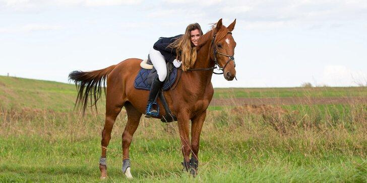 60 minut na koni: Vyjížďka pro zkušené nebo výuka jízdy pro začátečníky