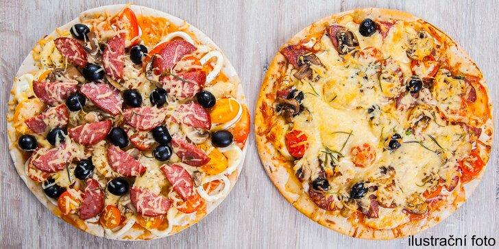 Dvě pizzy dle vlastního výběru: 14 druhů s tomatovým i smetanovým základem