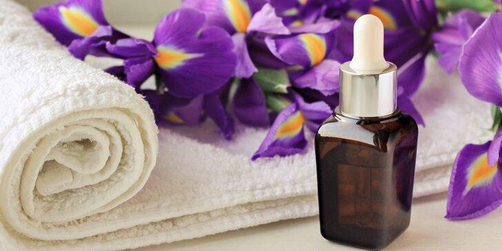 Relaxační masáž zad s vůní modrého irisu včetně bio zábalu