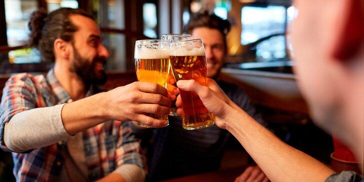 Půllitr piva Mustang Ostravar - jedenáctky nadupané třemi druhy sladu