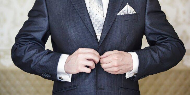 Manžetové knoflíčky a spona na kravatu - set, který z mužů dělá gentlemany