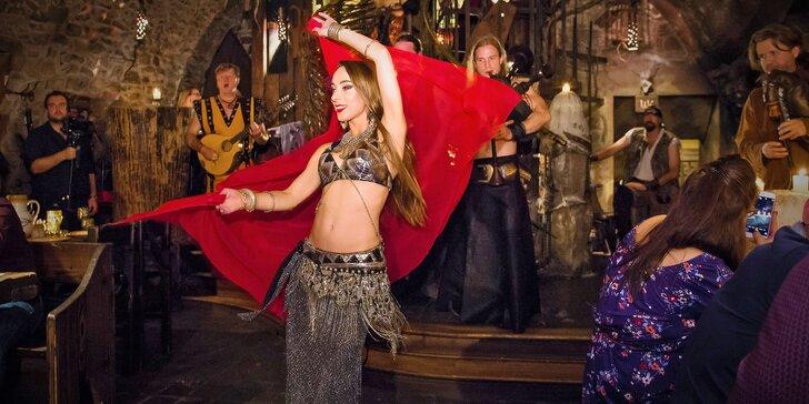Hodujte jako ve středověku: historická show, 5chodové menu a neomezené nápoje