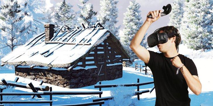 Únikovka ve virtuální realitě pro 4 hráče: rozpleťte tajemství opuštěného srubu