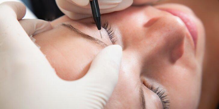 Permanentní make-up obočí pomocí techniky vláskování - zcela nové nebo oživení