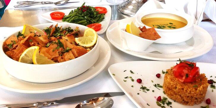 Libanonské degustační menu pro dva: hlavní chod s masem nebo vegetariánský