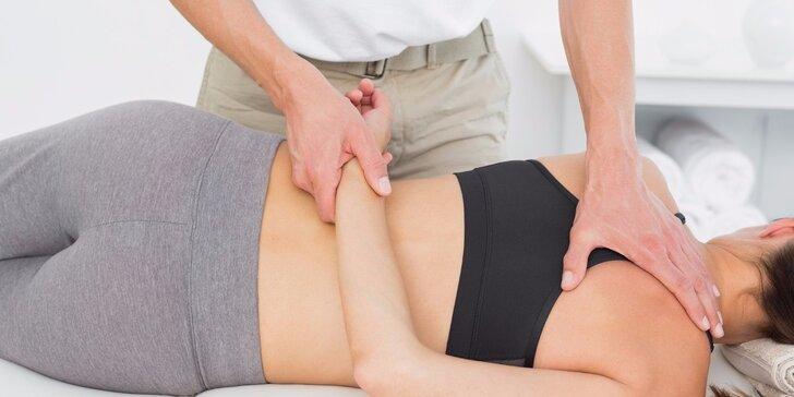 50 minut fyzioterapie: Masáž a cvičení proti bolestem krku a ramen