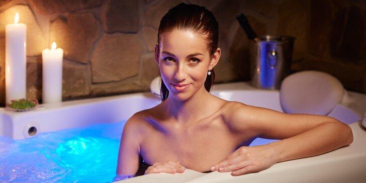 Privátní wellness pro 2 až 4 osoby: sauna a vířivka jsou na dvě hodiny jen vaše