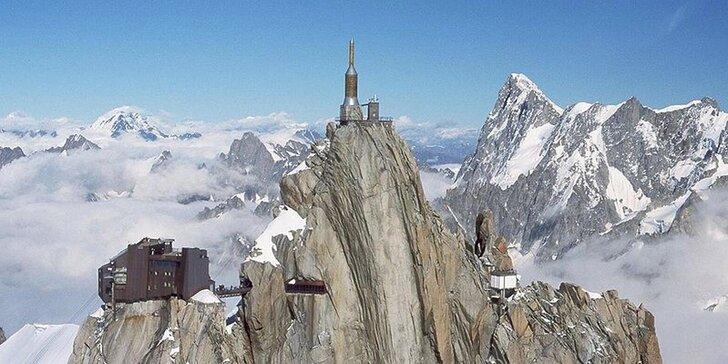 Výlet do horského Chamonix, k hoře Mont Blanc a do Ženevy