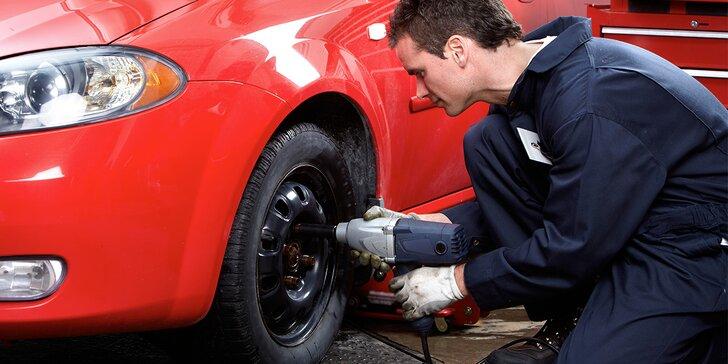 Přehození nebo přezutí kol včetně jarní prohlídky vozu