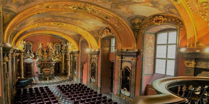Vstupenka do Zrcadlové kaple Klementina na světové populární melodie