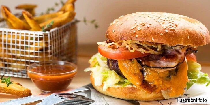 Menu od šéfkuchaře, který vařil v USA - burger, domácí hranolky, salát a limonáda