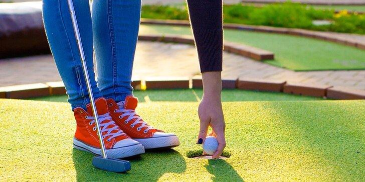 Hodinová hra adventure golfu pro dva v Horních Věstonicích