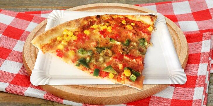 Super rychlá svačina v Plzni - čtvrtka čerstvé pizzy do ruky, výběr z 5 druhů
