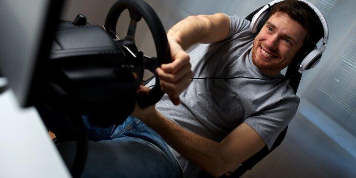 Realistický závodní simulátor Formula 1 až pro 4 kamarády