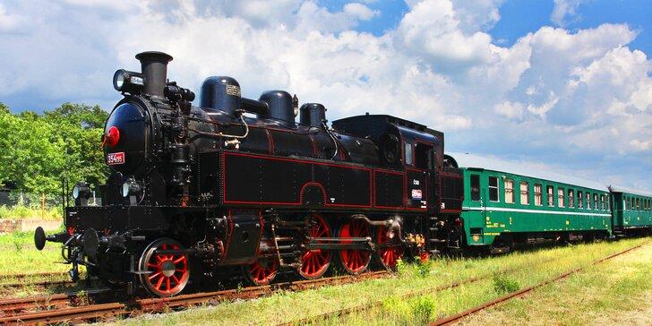 Zpáteční jízdenka na parní vlak a vstupenka na parostrojní festival v Holoubkově