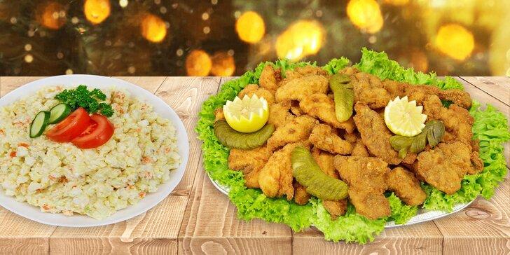 Kuřecí a vepřové miniřízečky a případně i bramborový salát k vyzvednutí