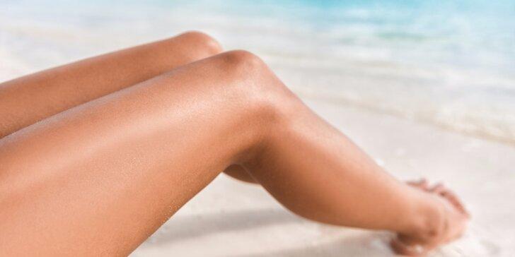 Trvalá epilace vybraných částí těla: podpaží, lýtka nebo brazilka