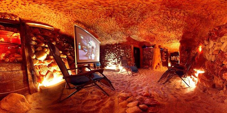 Vstupy do ozdravné pravé solné jeskyně