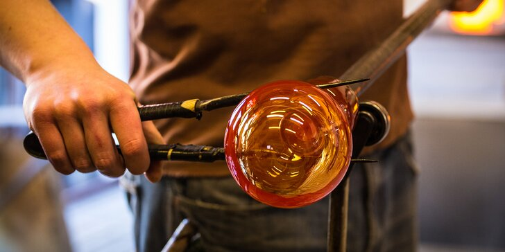 Foukání skla s prohlídkou nejstarší sklárny v Čechách a ochutnávkou piva