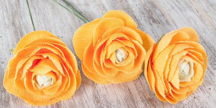Twist Art: 3hodinový kreativní kurz výroby květin z hedvábného papíru
