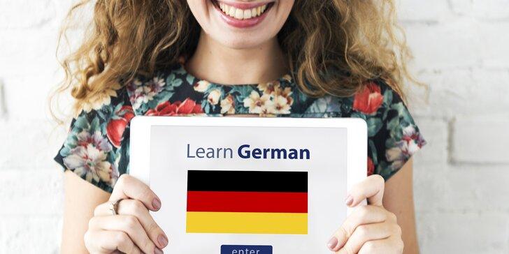 Šestiměsíční online kurz němčiny + 1 přístup pro druhou osobu zdarma