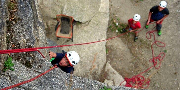 Dobrodružství začíná: celodenní horolezecký kemp pro děti od 5 do 15 let