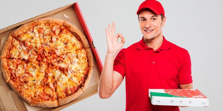 Tohle bude dobrota: 2 čerstvé pizzy dle výběru s rozvozem po Bruntále