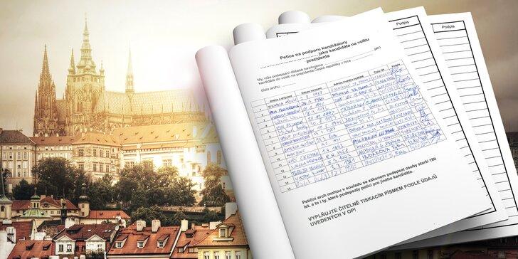 50 tisíc podpisů, které vám otevřou cestu na Hrad!