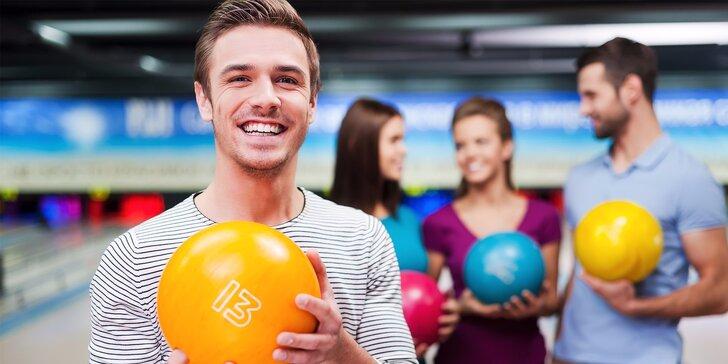 60minut bowlingu až pro 8 hráčů