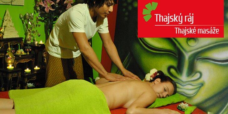60minutové masáže od rodilých Thajek a relaxace s Garra Rufa – i permanentky