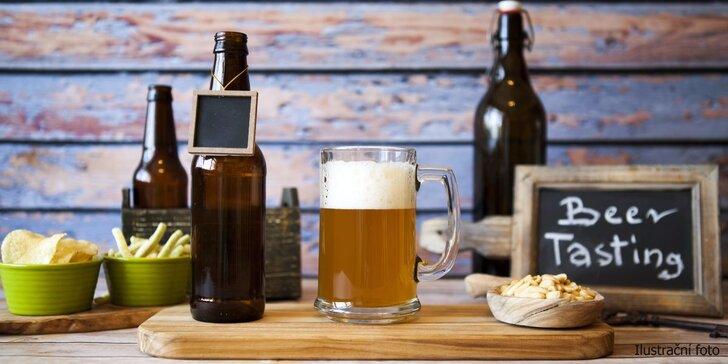 Degustace živých anglických piv Thornbridge vč. pohoštění pro 2