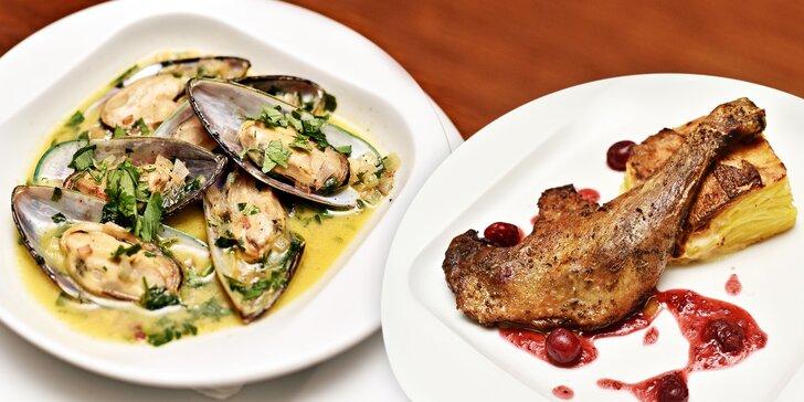 Francouzské hody - volná konzumace libovolných jídel v hodnotě 1000 Kč