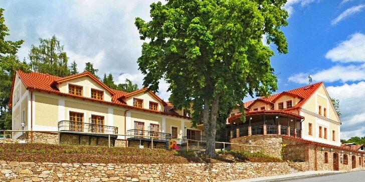 Romantika na jihu Čech: oceňovaný hotel, privátní wellness a večeře při svíčkách