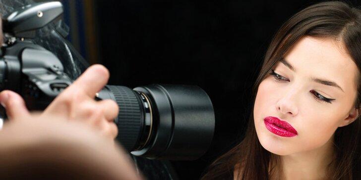 Profi focení s proměnou vizáže a stylingem + poukaz na kosmetické ošetření