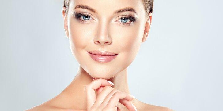 Injekční aplikace kyseliny hyaluronové na obličej, krk, dekolt či ruce