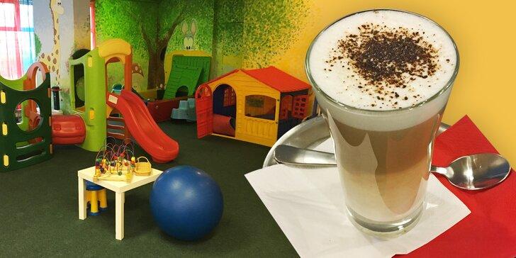 S dětmi do kavárny: 1 nebo 2 kávy a celodenní vstup do dětské herny