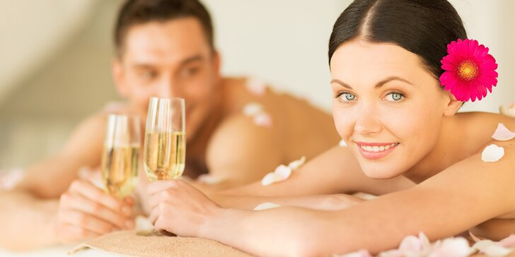 Párová relaxační masáž včetně sektu - 90 nebo 120 minut