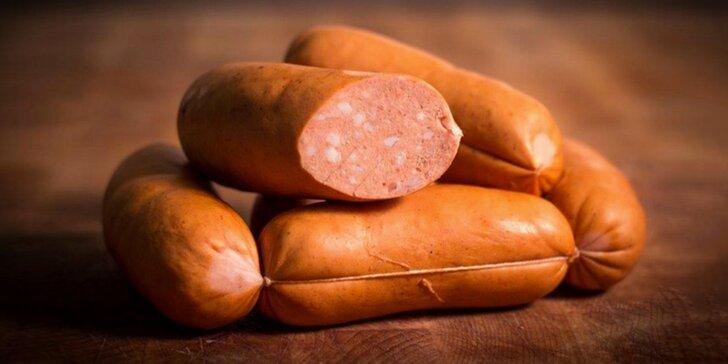 Pozdrav z udírny: ručně vyráběné mistrovské špekáčky s 92 % masa