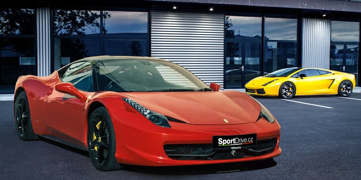 Jízda v novém Ferrari 458 Italia nebo v Lamborghini Gallardo vč. paliva
